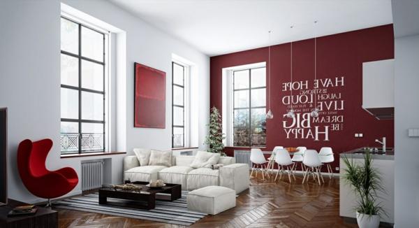 sticker-chambre-adulte-décoration-salon-rouge