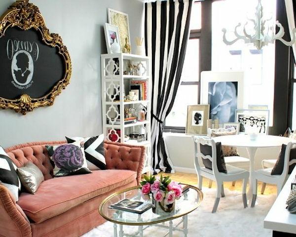 suspension-baroque-intérieur-contemporain-lustre-baroque-séjour