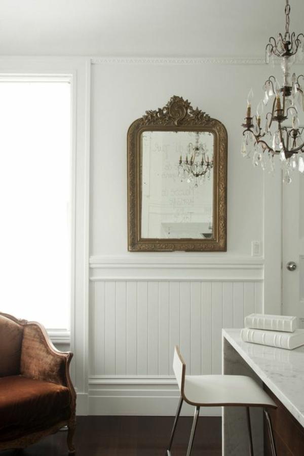 suspension-baroque-intérieur-contemporain-lustre-séjour-miroir