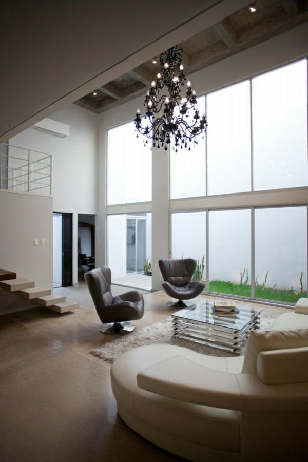 suspension-baroque-intérieur-contemporain-lustre-séjour