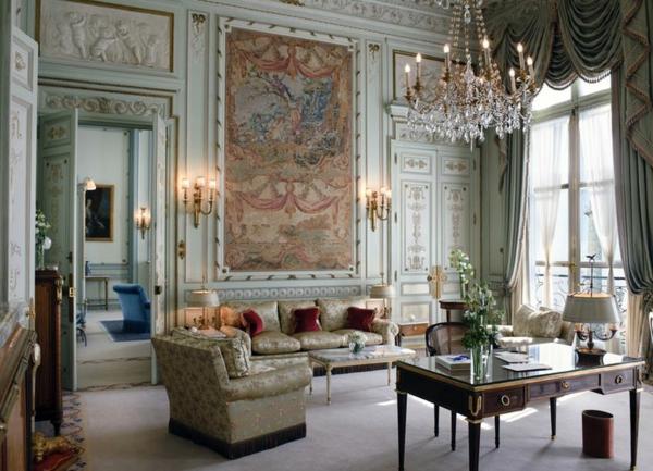 suspension-intérieur-baroque-lustre-baroque-séjour-
