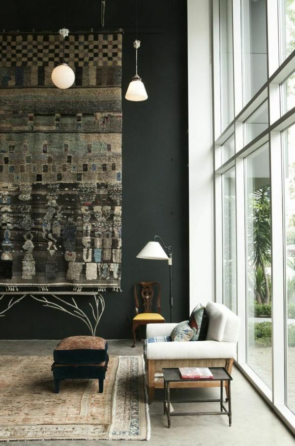 tapis-vintage-chambre-de-séjour-lumière