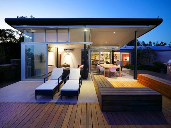 Terrasse en bois ou composite id es merveilleuses pour l 39 ext rieur for Idee terrasse contemporaine