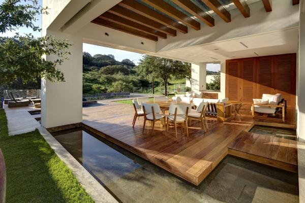 terrase en bois ou composite, une terrasse en bois élégante et