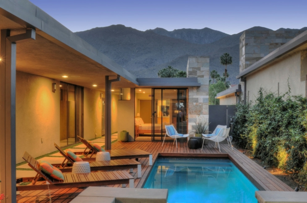 terrasse en bois ou composite, une terrasse en bois magnifique avec