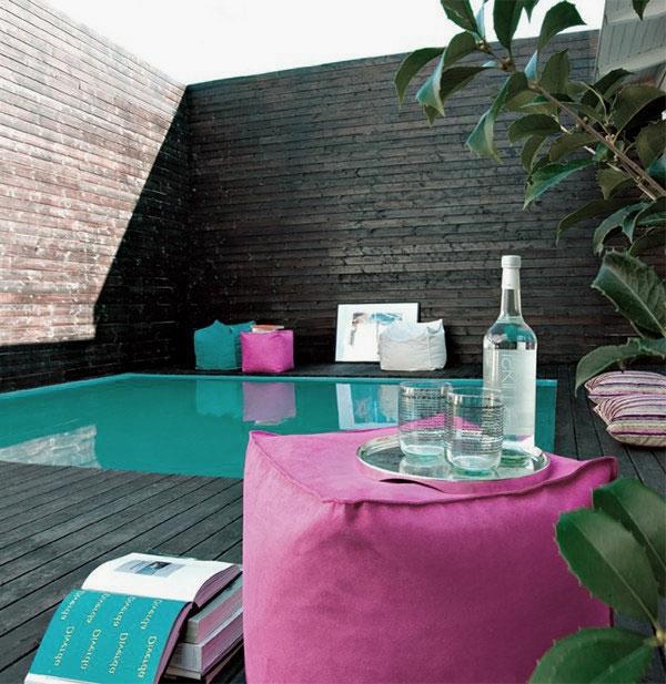 Terrasse en bois ou composite id es merveilleuses pour l 39 ext rieur - Terrasse teck piscine ...