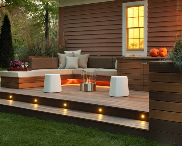 terrasse en bois ou composite id es merveilleuses pour l 39 ext rieur. Black Bedroom Furniture Sets. Home Design Ideas