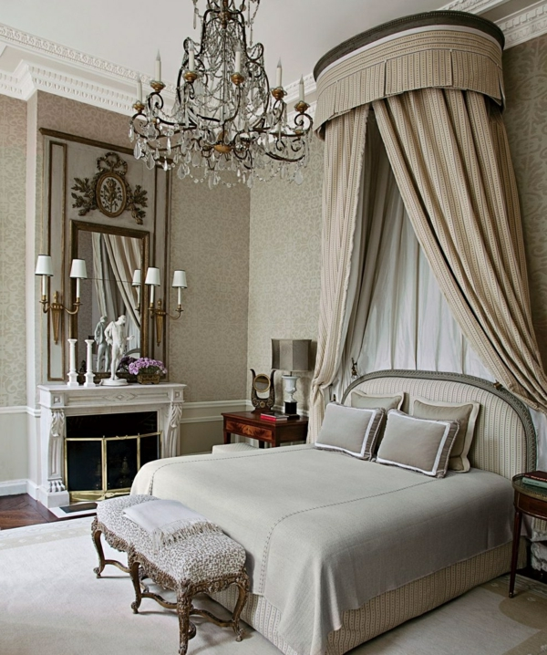 Chambre style baroque chic accueil design et mobilier for Maison style baroque