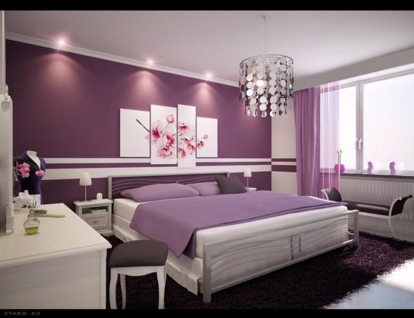 unique-chambre-à-coucher-violet-rose-blanc