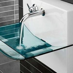 La vasque en verre - fonctionnelle et très déco!
