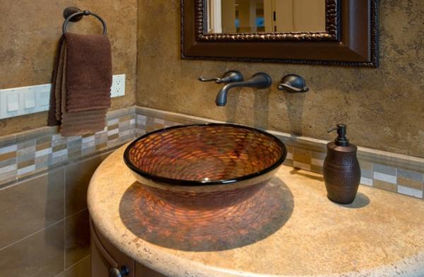 vasque-en-verre-marron-design-oval