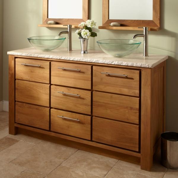 La vasque en verre fonctionnelle et tr s d co - Meuble salle de bain en verre ...