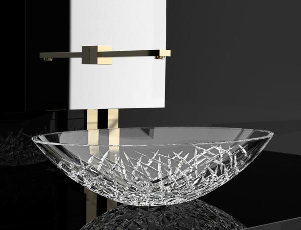 La vasque en verre fonctionnelle et tr s d co for Vasque verre salle de bain
