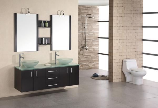 Double vasque salle de bain en verre solutions pour la for Double vasque salle de bain en verre