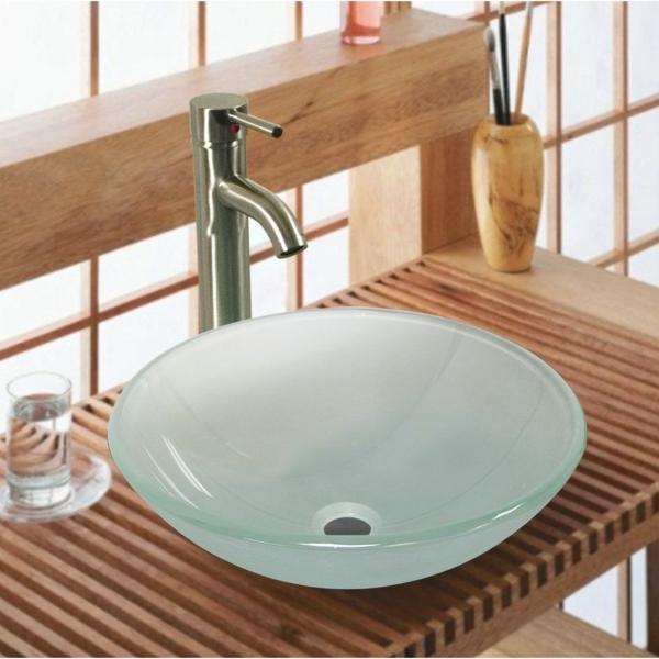 la vasque en verre fonctionnelle et tr s d co. Black Bedroom Furniture Sets. Home Design Ideas