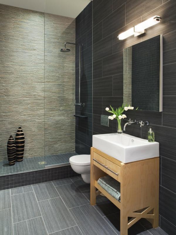 vasque-rectangulaire-carrelage-noir-cabine-de-douche-stylée