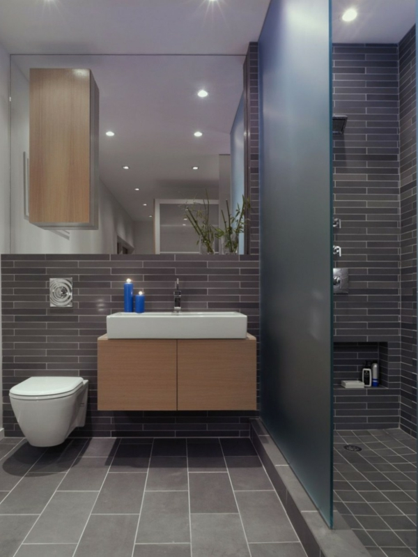 La vasque rectangulaire id es d co pour votre salle de bains - Ambiance salle de bain bois ...