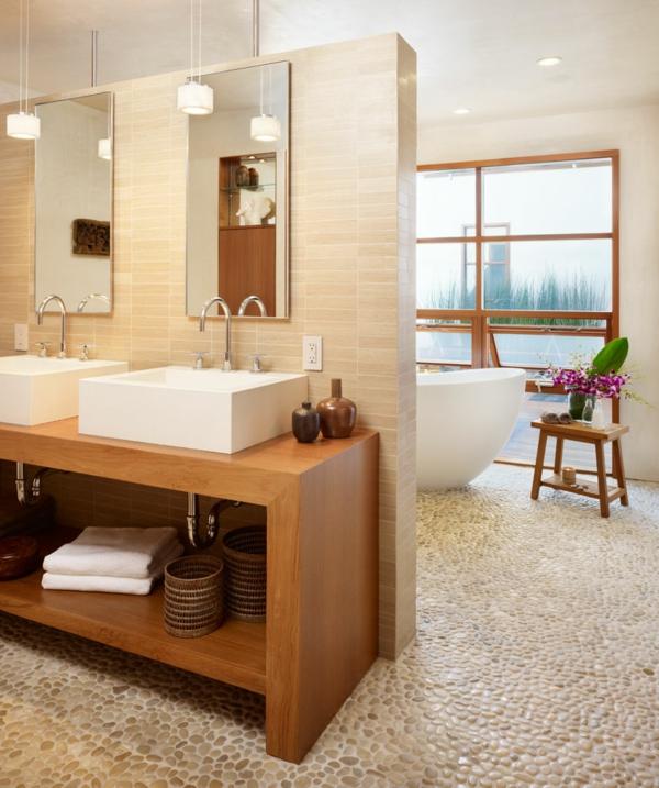 La vasque rectangulaire id es d co pour votre salle de - Salle de bain sol bois ...