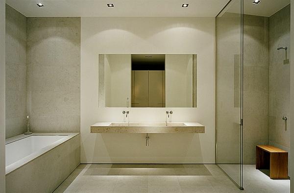 vasque-rectangulaire-un-double-vasque-suspendu-en-couleur-crème