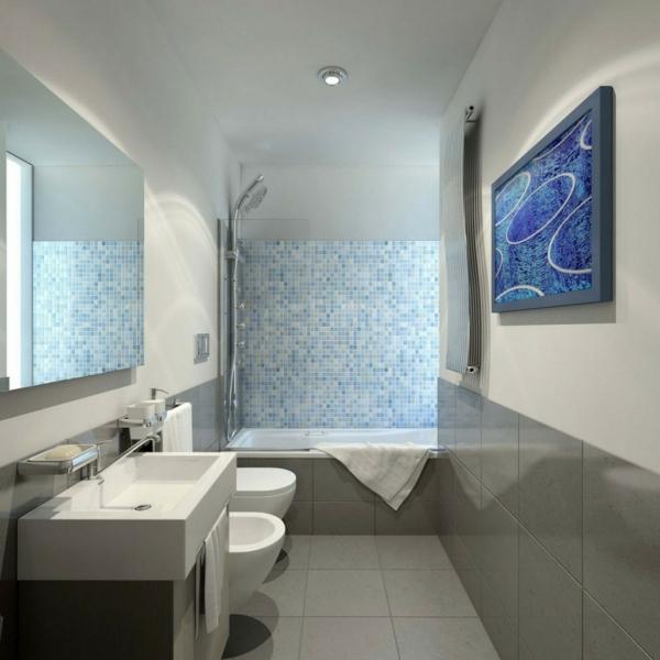vasque-rectangulaire-une-salle-de-bains-stylé-carrelage-mosaique-bleu-intérieur-en-gris-et-blanc