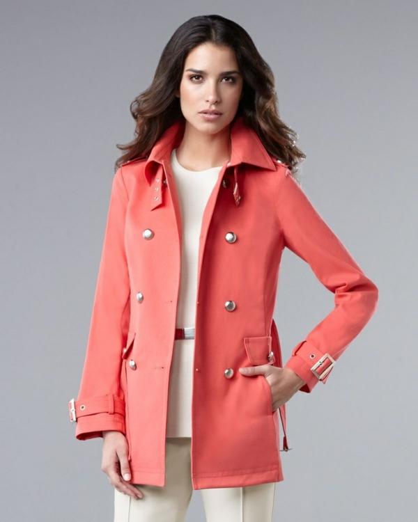 veste-corail-modèle-rétro-à-boutonnière
