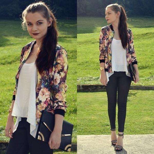 La veste fleurie 60 id es comment la porter - Veste printemps quelles sont les tendances pour cette saison ...