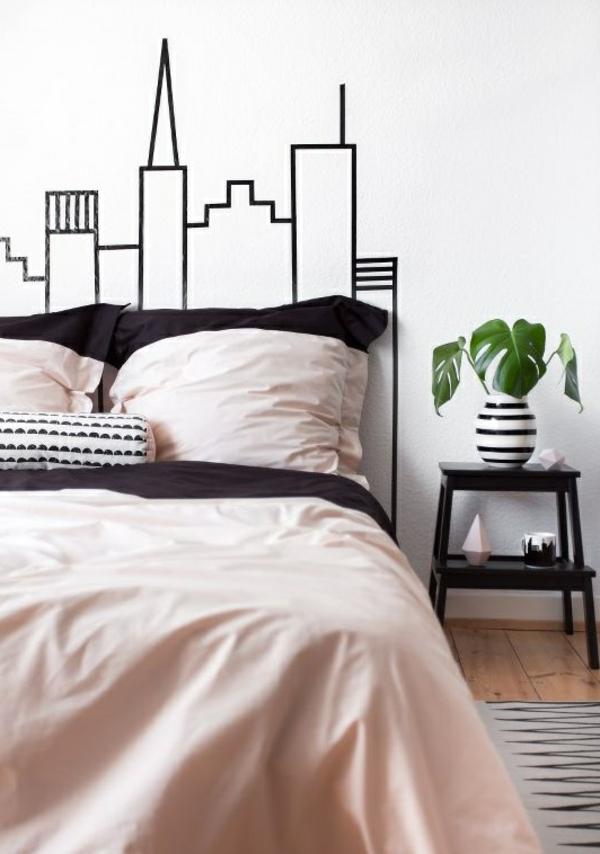 ville-tête-de-lit-sticker-de-mur-NY-chambre