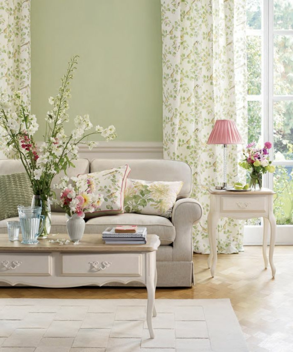 vintage-fleurs-salle-à-manger-séjour-jollie
