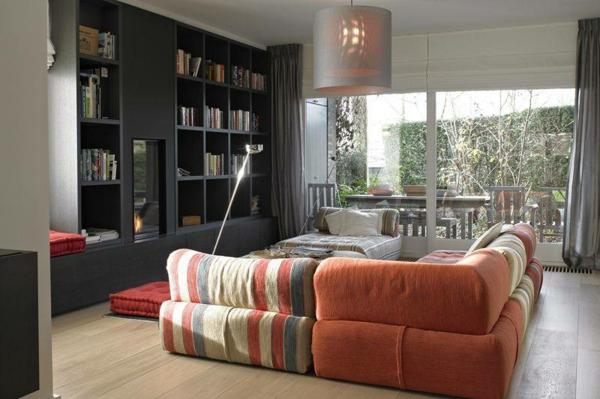 étagères-cubes-modernes-salle-de-séjour-moderne