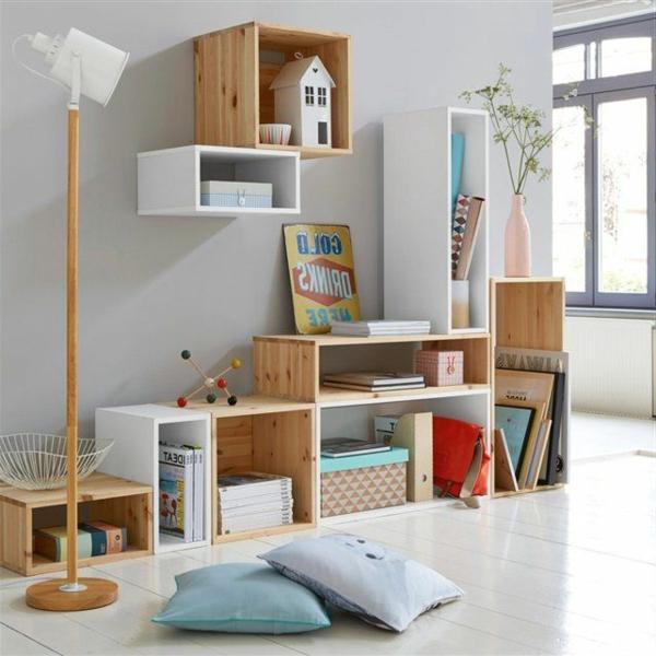 Les tag res cubes comme mobiliers pratiques et comme d coration - Cube bibliotheque modulable ...