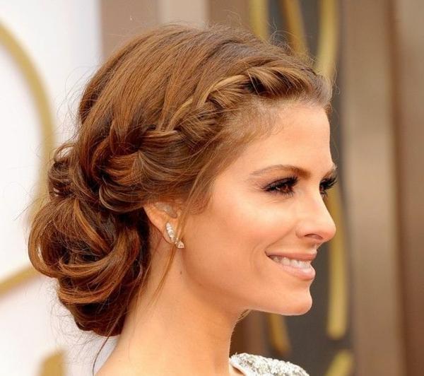 Coiffure-de-mariée-cheveux-mi-long-brune