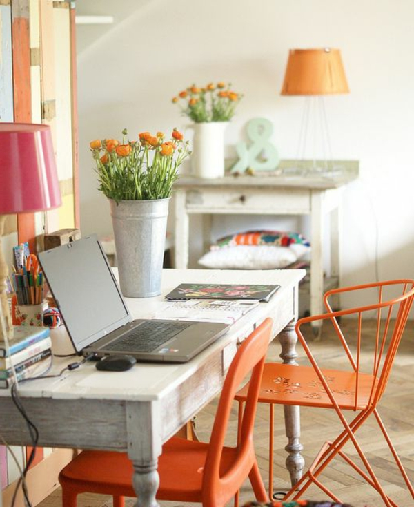 1-chaise-bureau-blanc-fauteuil-orange