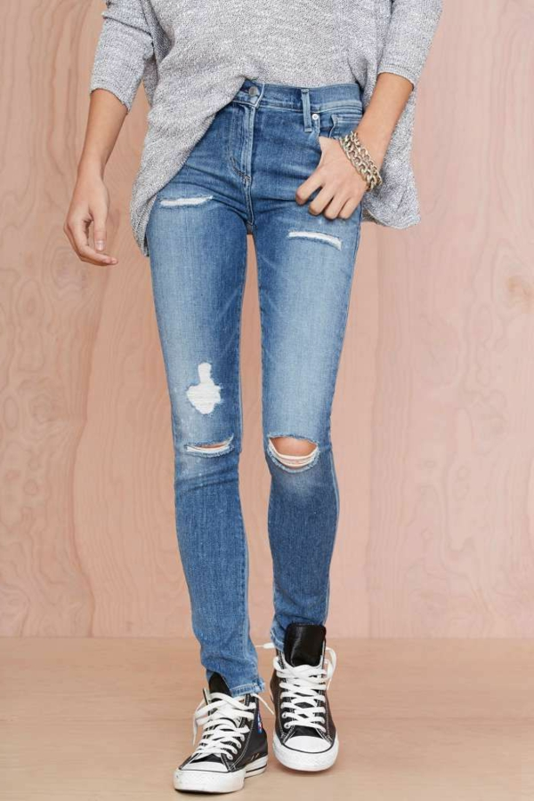 jeans taille haute femme bleu dechire jean dechire bleu taille haute femme jeans slim taille haute p. Black Bedroom Furniture Sets. Home Design Ideas