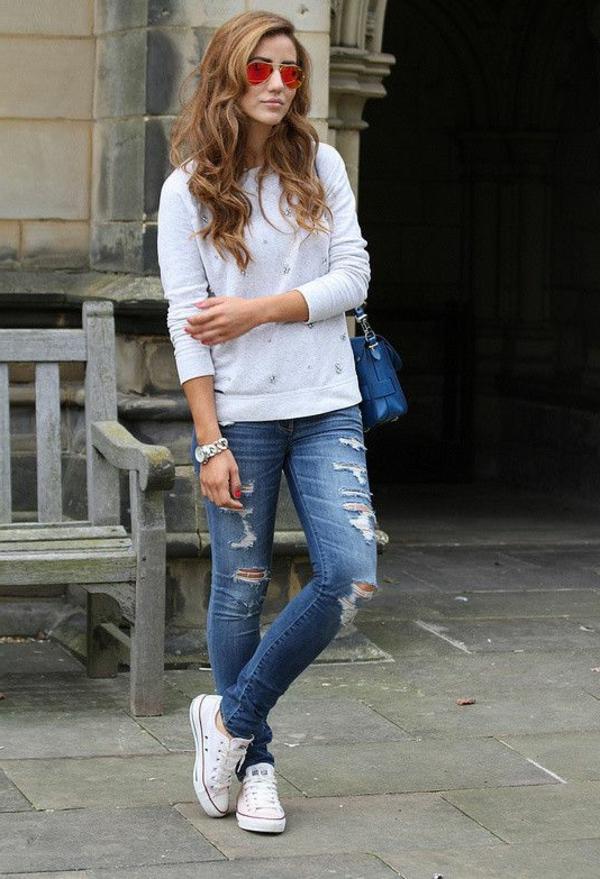 1,jean,troué,taille,haute,street,style