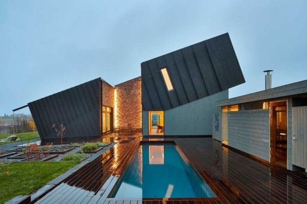 La maison plain pied moderne for Plan de maison de plain pied moderne