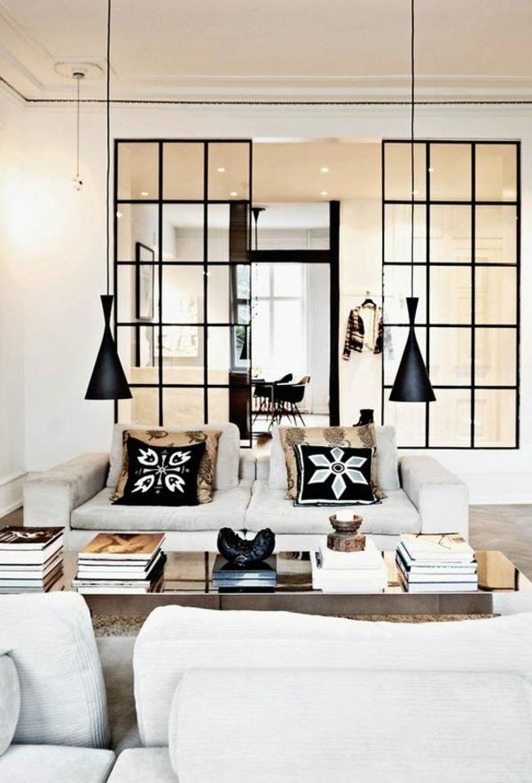 1-porte-vitrée-classique-salon-blanc-noir