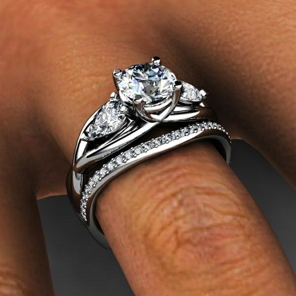 2-Bague-de-mariée-avec-trois-anneaux-pierre-précieux