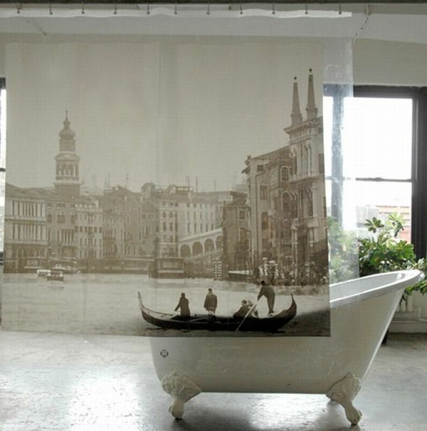 60 idées pour votre rideau de douche original - Archzine.fr