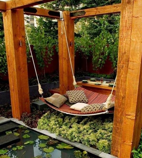 Balan oire pour le jardin ou l terasse 65 id es cr atives for Balancoire de jardin