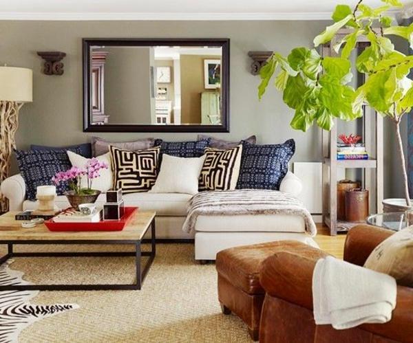 4-Canapé-d-angle-en-cuir-salon-plante-verte