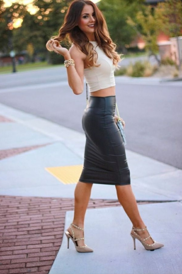 7-Jupe-cuir-vetements-jolies-style-jupe-semi-longue