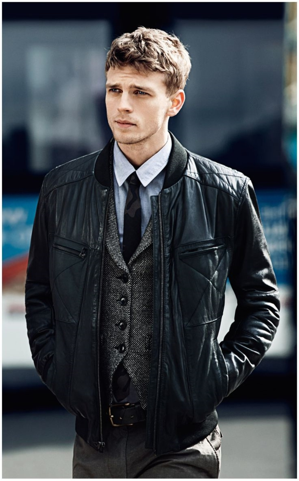 Comment porter sa veste en cuir homme