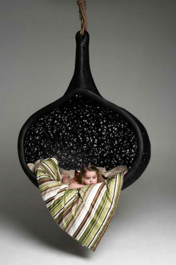 Balançoires-salons-design-intérieur-noir