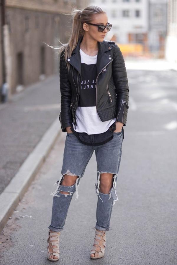Blazer-en-cuir-tenue-spéciale-style-negligé