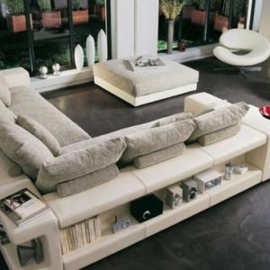 Le canapé d'angle en cuir - 60 idées d'aménagement