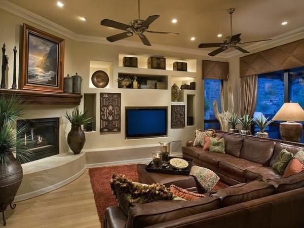 Canapé-d-angle-en-cuir-salon-ventilateurs