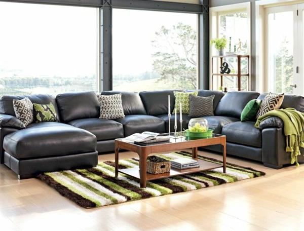 Canapé-d-angle-en-cuir-salon