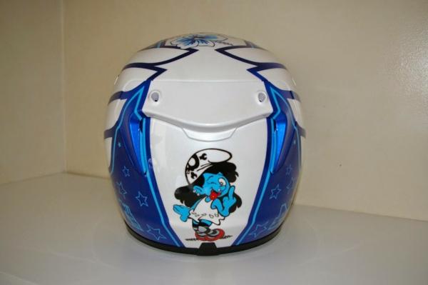 Casque-moto-original-smurf-bleue