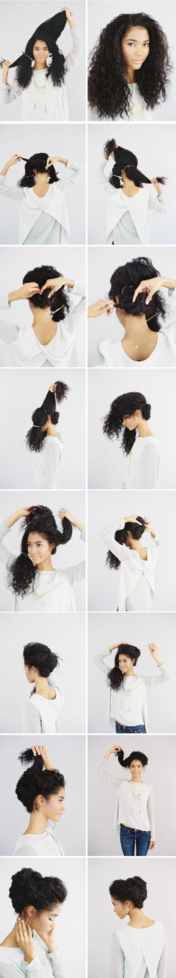 Coiffure-simple-et-rapide-cheveux -diy