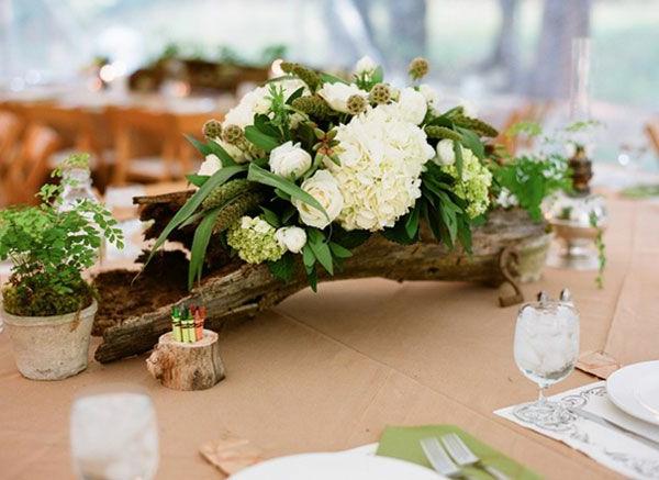 Décoration-florale-originale- mariée-cérémonie -blanche